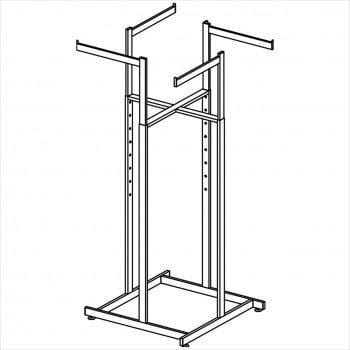 Super quad Rectangular Tube 4 way rack
