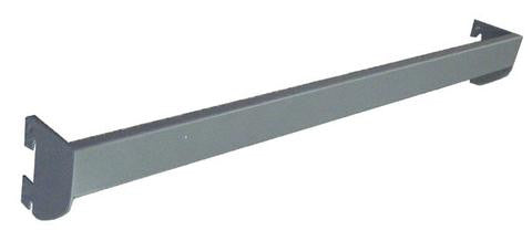 Slotted Standards Hardware & Accessories - Flat Bar for Wall Standards Grey