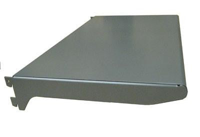 slotted standards hardware & accessories - Heavy duty standard metal shelf grey