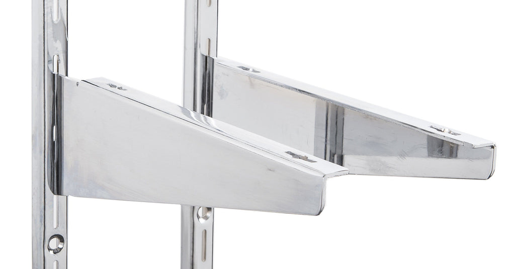 Standard shelf brackets - Wood shelf  brackets for heavy duty standard in chrome