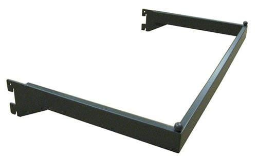 U Shaped Hangrail - U bar for heavy duty wall standards grey