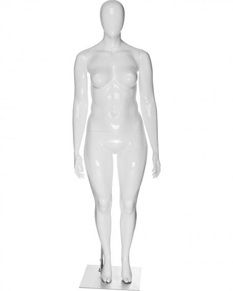 Plus size female egg head mannequin --- JANET/3