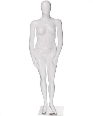 Plus size female egg head mannequin --- JANET/4