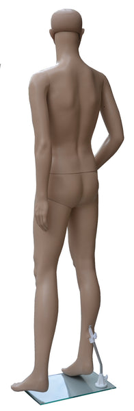 Male Mannequin, Plastic,  Skin Tone,  Unbreakable, with Glass Base - ABM-1S