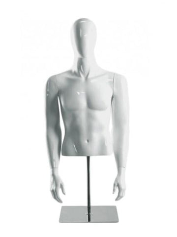 male half mannequin with head