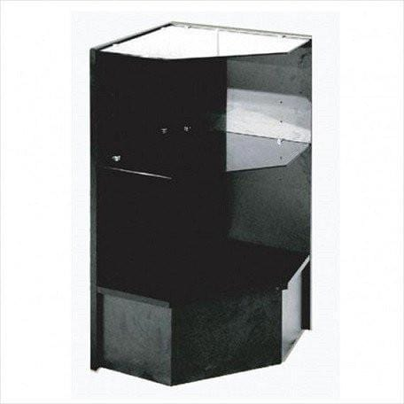 Buy Display Cases Black Pentagon Corner Case - 18 x 18 x 38 - Inch