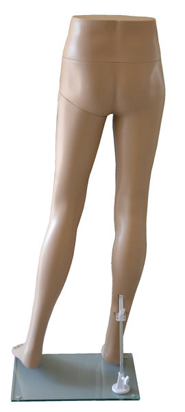 Pants Mannequin for Male with Glass Base, Skin Tone,  Plastic, Unbreakable, Height 48 inch, Back View