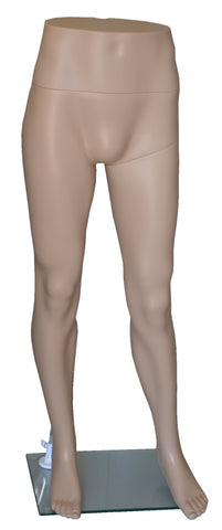 Pants Mannequin for Male with Glass Base, Skin Tone,  Plastic, Unbreakable, Height 48 inch