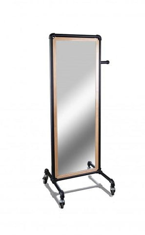 Pipe line mirror with casters