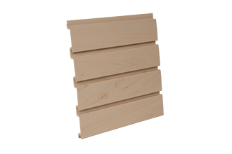 PVC Slatwall 4 x 1 - Foot Maple, and 8 pcs of 4 x 1 - Foot Make 1pc Standard 4 x 8 - Foot Vertical Slatwall