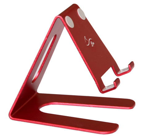 Desktop Cell Phone Stand Portable Aluminum Tablet holder -Red