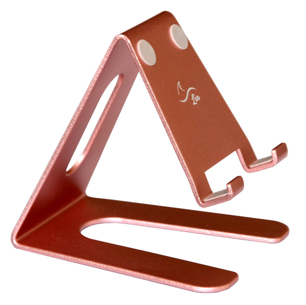 Desktop Cell Phone Stand Portable Aluminum Tablet holder---rose gold