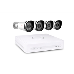 Foscam IP Security Camera Kit with 8 Channel NVR and 4 PoE 720p Bullet Cameras
