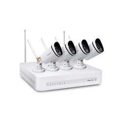 Foscam WiFi Security Camera Kit with 4CH NVR and 4 WIFI 720p Cameras ---FN3104W-B4-1T