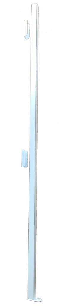 Folding security gate pole