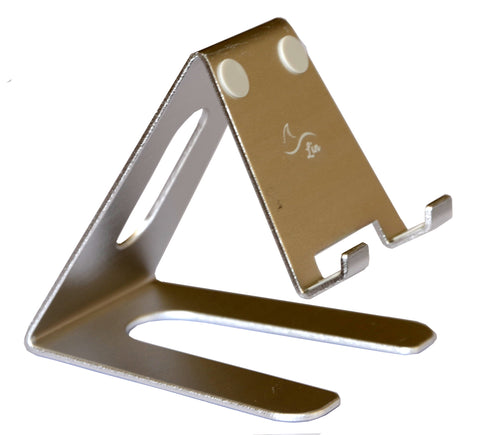 Desktop Cell Phone Stand Portable Aluminum Tablet holder --- Silver