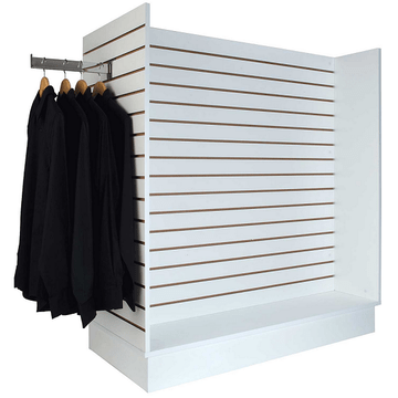Slatwall merchandiser - Slatwall H shape display white color