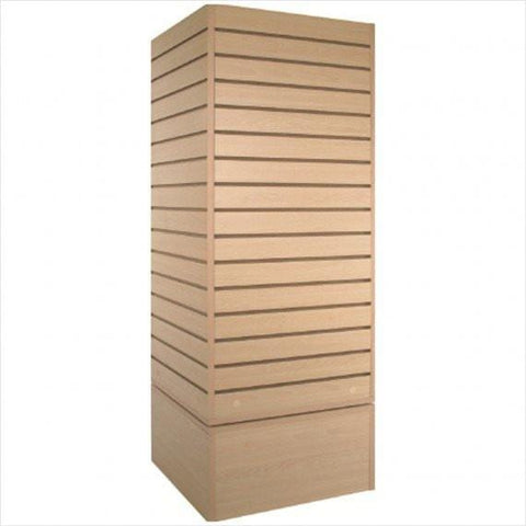 slatwall cube tower maple