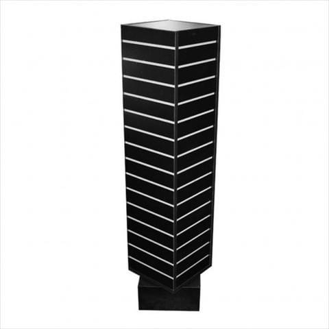 slatwall rotating tower black