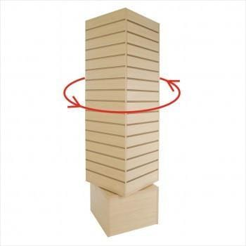 Slatwall rotating tower maple