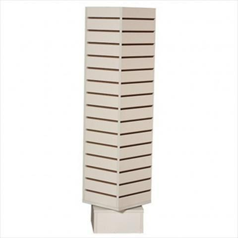 slatwall rotating tower white