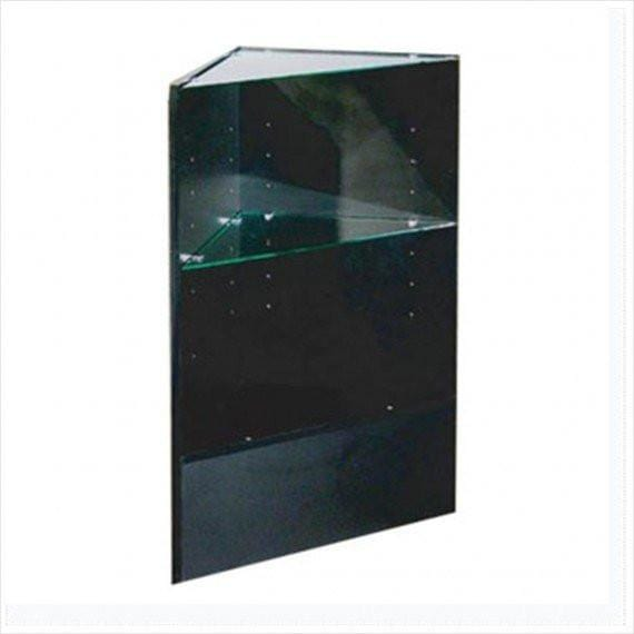 Cheap Display Cases Triangle With Tempered Glass Black - 18 x 18 x 38 - Inch