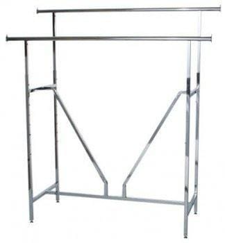 Clothes rack - V brace H rack chrome