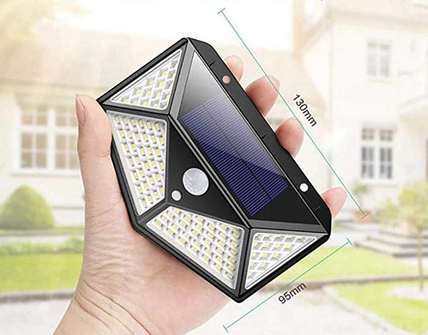 Solar Security 100 LED Waterproof Motion Sensor Wall Light / SSE43
