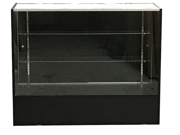 Display Cases Canada - 48 x 38 x 18 - Inch - Black - Full Vision - Front View