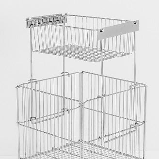 wire stacking basket for dump bin