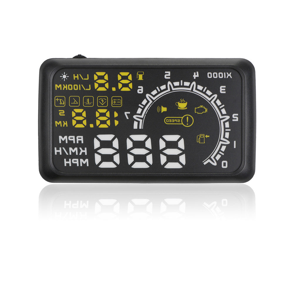 5.5inch OBDII Car HUD Head Up Display OBD2 Plug/Play Interface Windshield Projector KM/h,MPH,Overspeed Warning,Fuel Consumption