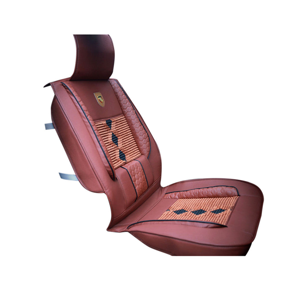 1 Piece of High Grade Leather Ice Silk Car Front Seat Cover Universal Fit Breathable Car Seat Cover