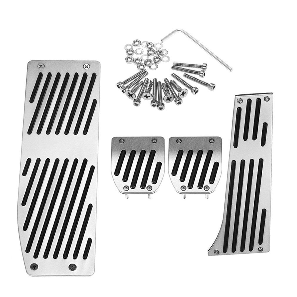 4 Pcs Brake Accelerator Pedal Set for BMW Series Stick Shift Car Accessories