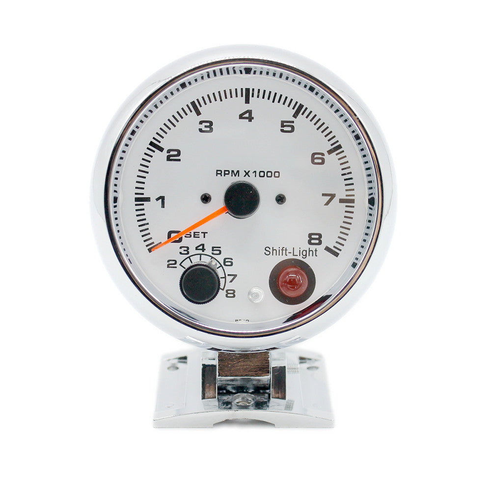 12V Digital Tachometer Gauge 95mm Dial Red Light Auto Car Engine Speed Meter