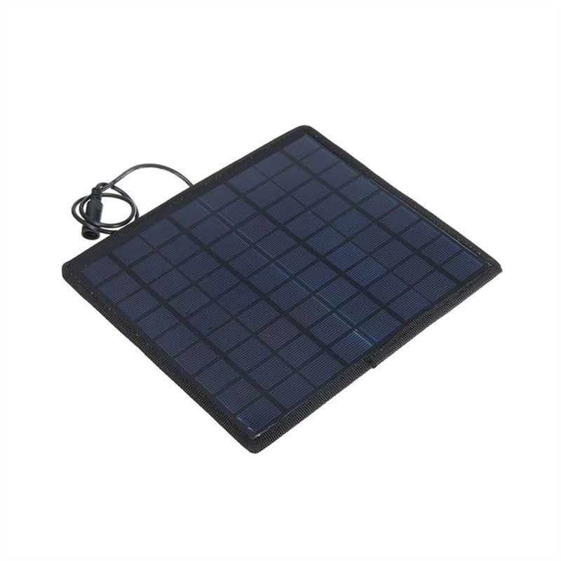 18V 5W Portable Solar Panel Power Battery Charger Backup for Car Boat Automobile Motorcycle Tractor (Battery Not Included)