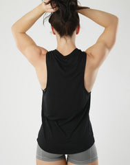 Babe Tank - black gym tank, rebel babe