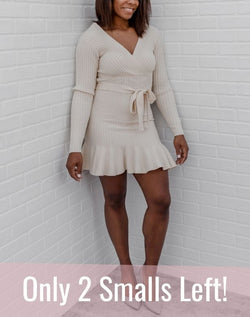 I Do What I Want Cream Sweater Dress