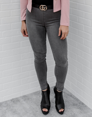 Almost Denim Gray Jeggings - gray jeggings