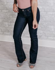 She's Got It Dark Wash Bootcut Denim