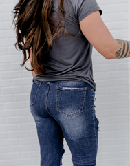 Under Dur-Stress Denim - super distressed straight leg jeans