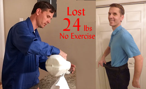 Lost 24 pounds without exercise making my own yogurt protein shakes probiotics.