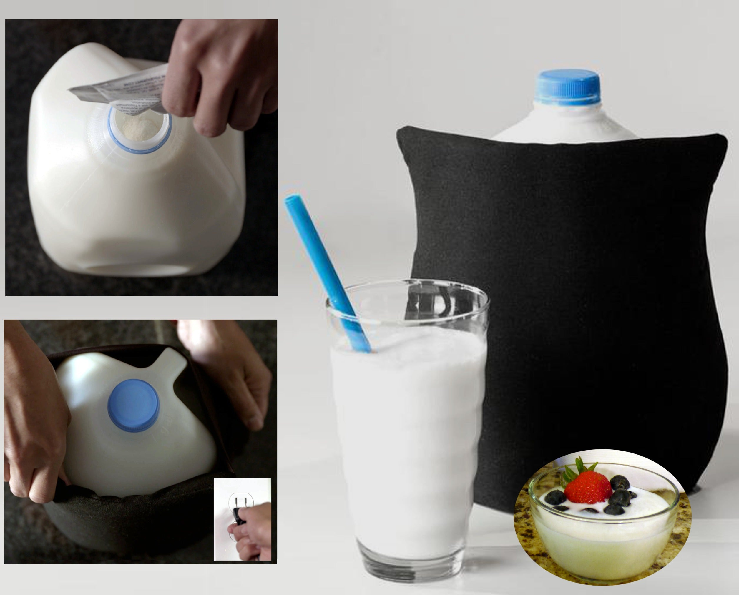 EZ Yogurt Maker Only 1 min prep for up to 32 yogurts or 64 yogurt tubes Just add starter, culture overnight, cool & enjoy
