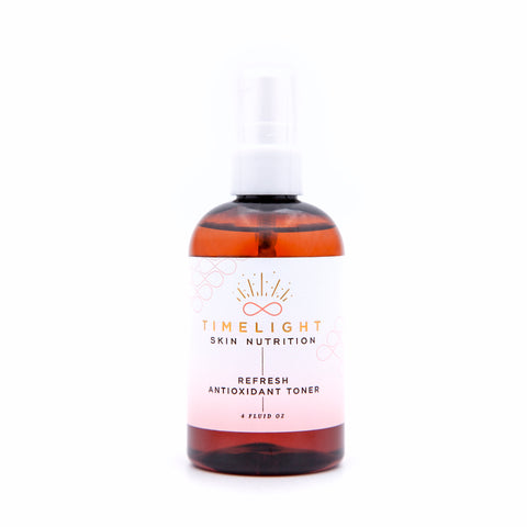 Refresh Antioxidant Toner is alcohol-free antioxidant toner used to remove any leftover residue from makeup or cleansing, and primes your skin to efficiently absorb serums and moisturizer.