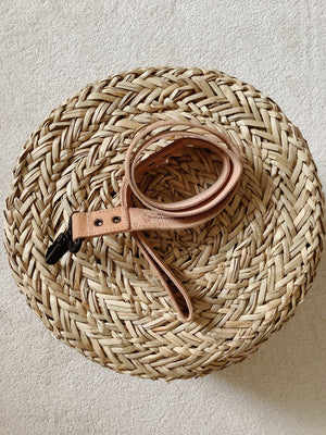 Vegetable tanned dog leash