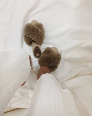 Teddy Sheepskin Slippers