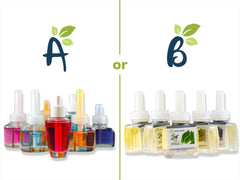Color Differences in Natural and Synthetic Plug in Air Fresheners -No Chemicals  or Dyes