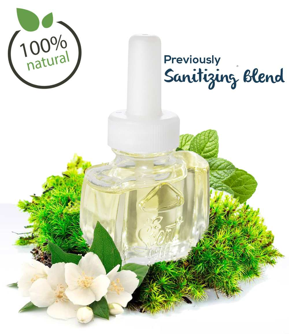 100% Natural Clean air previously  Sanitizing Deodorizing Plugin Air Freshener With Oak Moss