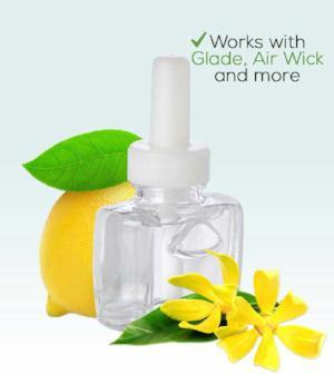 Refresh Blend Plug in Refill with Lemon & Ylang-Ylang- Fits Most Warmers Glade Air Wick and More