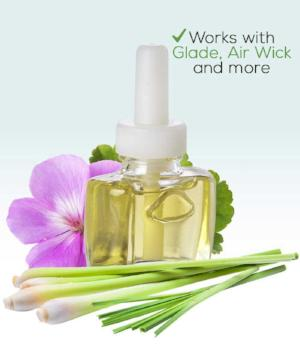 Geranium Lemongrass Plug in Refill -Fits Glade®, Air Wick®, and more