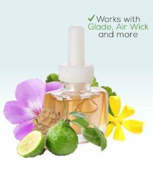 Soft Amber Plug in Refill with Bergamot, Cedarwood,Ylang,Geranium-For Glade Air Wick and More